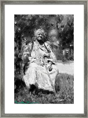 Framed Print featuring the drawing Former Slave Woman by Vannetta Ferguson