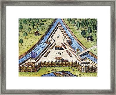Fort Caroline, 1564 Framed Print by Granger