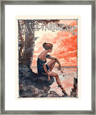 France La Vie Parisienne Magazine Cover Framed Print by The Advertising Archives
