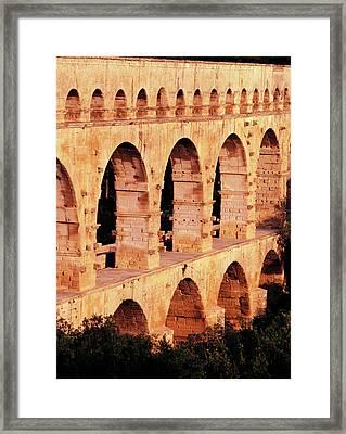 France, Languedoc, Gard, View Of Pont Framed Print by David Barnes
