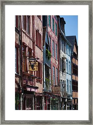 France, Normandy, Rouen, Half-timbered Framed Print