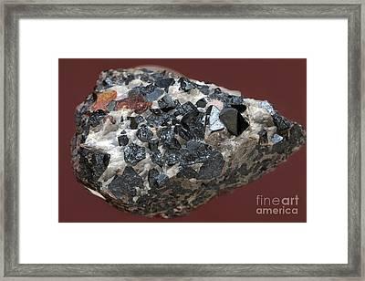 Franklinite Framed Print