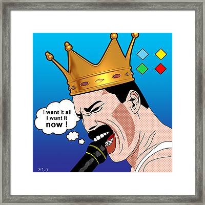 Freddie Mercury Framed Print by Mark Ashkenazi