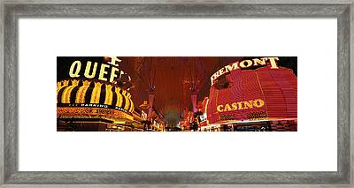 Fremont Street Experience Las Vegas Nv Framed Print by Panoramic Images