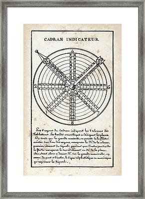 French Optical Telegraph System Framed Print