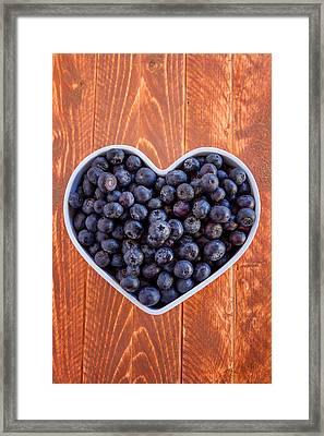 Fresh Picked Organic Blueberries Framed Print by Teri Virbickis
