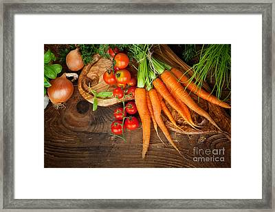 Fresh Vegetables Framed Print by Mythja  Photography