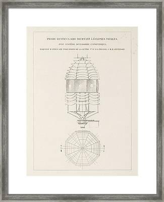 Fresnel On Lighthouse Lenses Framed Print by King's College London