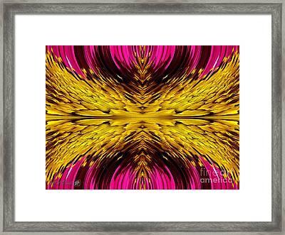 Fuchsia Sensation Abstract Framed Print by J McCombie