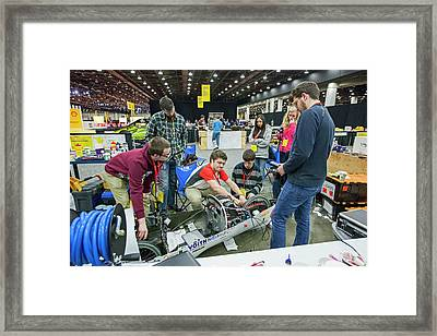 Fuel-efficient Vehicle Competition Framed Print