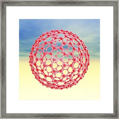Fullerene Molecule, Artwork Framed Print by Laguna Design