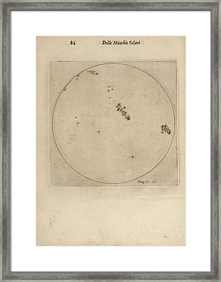Galileo's Observation Of Sunspots Framed Print