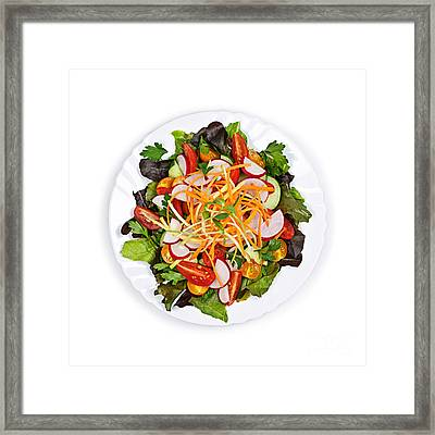 Garden Salad Framed Print