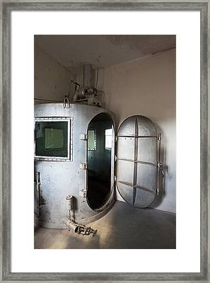 Gas Chamber At Wyoming Frontier Prison Framed Print