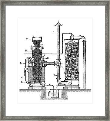 Gasification Unit Framed Print by Science Photo Library