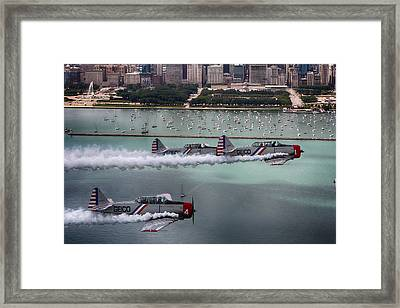 Geico Skytypers Framed Print by Jerome Lynch