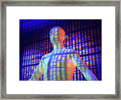 Genetic Individuality Framed Print by Pasieka