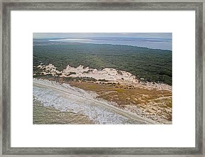 Georgia Coastline Framed Print