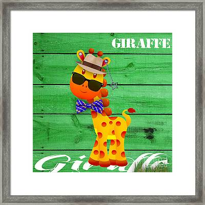 Georgie Giraffe Collection Framed Print by Marvin Blaine