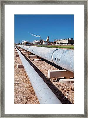 Geothermal Power Plant Framed Print
