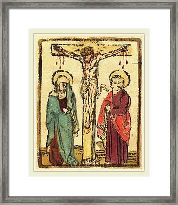German 15th Century, Christ On The Cross Framed Print