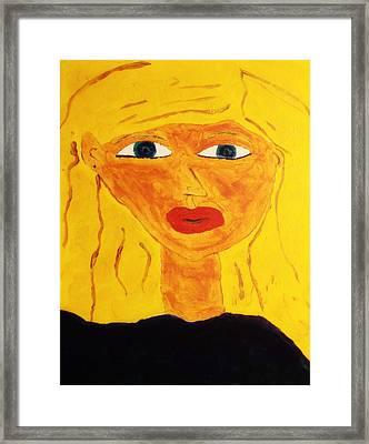 Girl Framed Print by Bamhs Blair