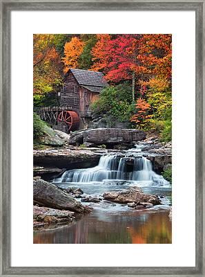 Glade Creek Grist Mill  Framed Print by Emmanuel Panagiotakis