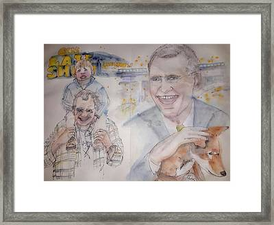 Going To Bed With Letterman  Album  Framed Print