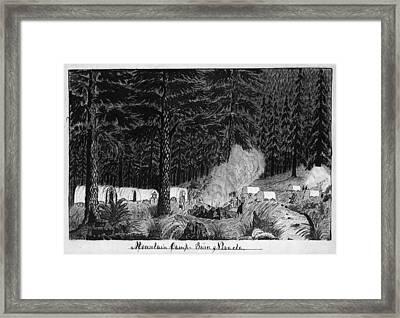 Gold Rush, 1859 Framed Print