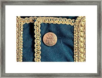 Golden Buttons Framed Print by Tom Gowanlock