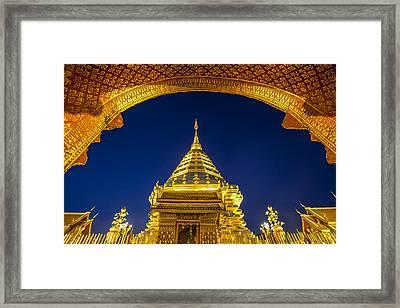 Golden Pagoda Framed Print