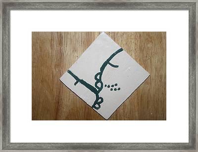 Grace - Tile Framed Print by Gloria Ssali