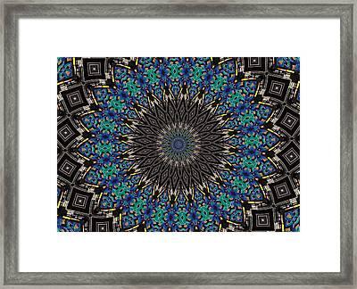 Graffiti - Galaxee Kaleidoscope Framed Print