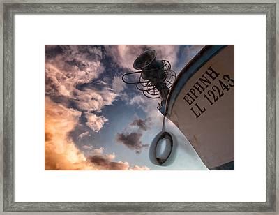 Greek Fishing Boat Framed Print
