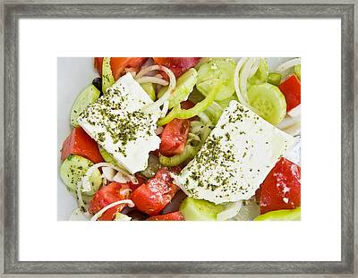 Greek Salad Framed Print by Tom Gowanlock