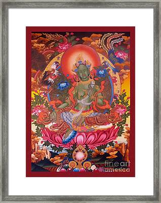 Green Tara 10 Framed Print by Lanjee Chee