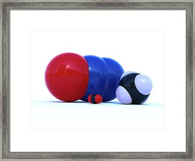 Greenhouse Gas Molecules Framed Print by Indigo Molecular Images