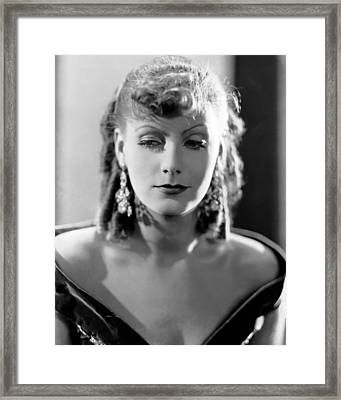 Greta Garbo Framed Print by Silver Screen
