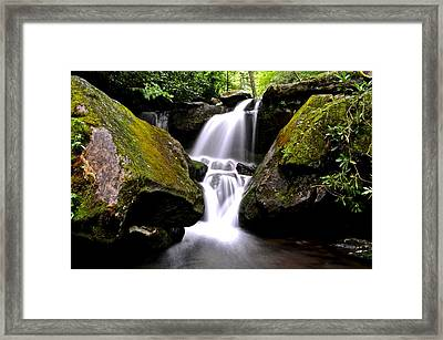 Grotto Falls Framed Print