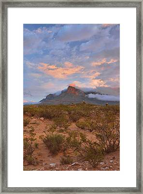 Guadalupe Mountains Sunrise Framed Print by Stephen  Vecchiotti