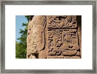 Guatemala, Quirigua Mayan Ruins Framed Print