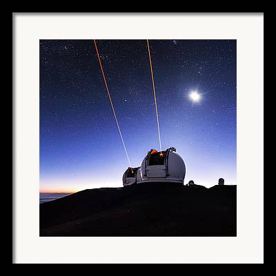 Keck Telescope Framed Prints