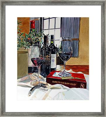 Framed Print featuring the painting Guide To The Napa Valley by Gail Chandler