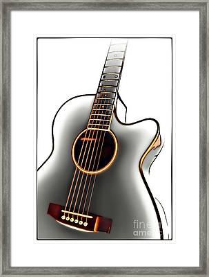 Guitar Framed Print by Walt Foegelle