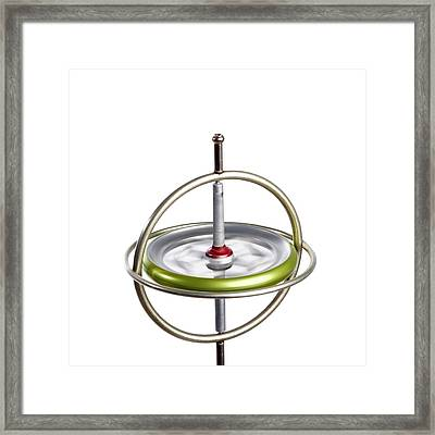 Gyroscope Framed Print by Science Photo Library
