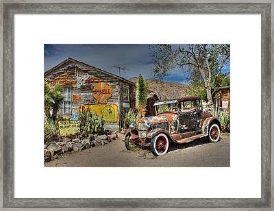 Hackberry General Store On Route 66 Framed Print by Lynn Jordan