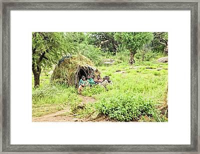 Hadzabe Tribe Framed Print by Photostock-israel