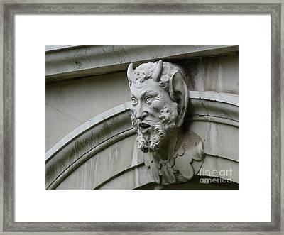 Hampton Court Palace Gargoyle Framed Print by Deborah Smolinske