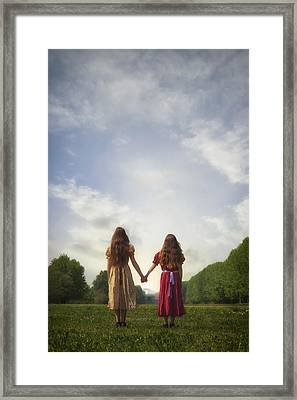 Hand In Hand Framed Print