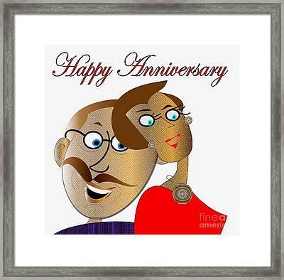 Happy Anniversary Framed Print by Iris Gelbart